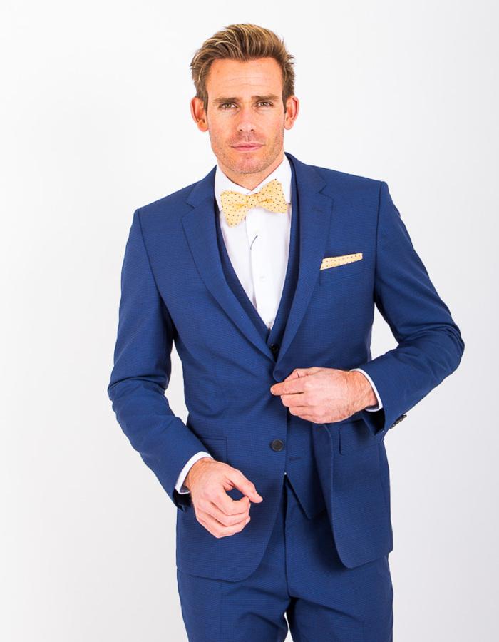 Boss kostuumvest blauw