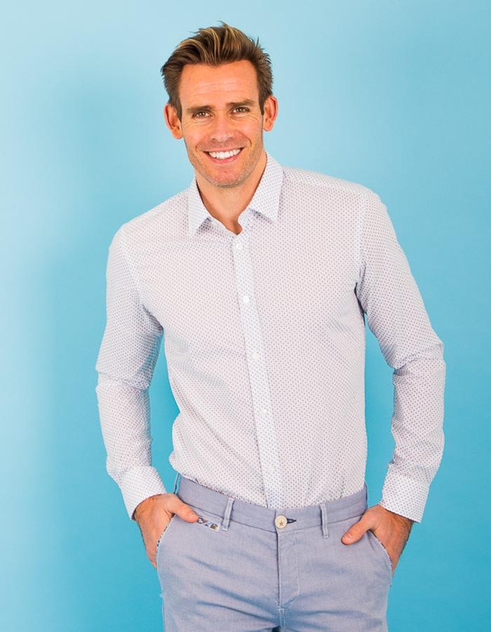 Boss modern fit hemd multicolor