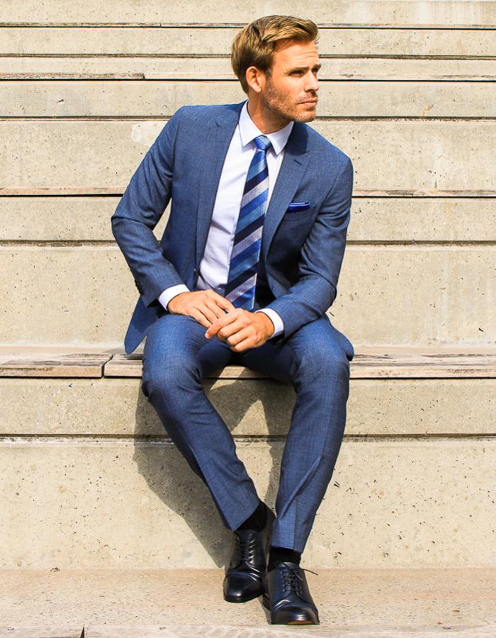 Boss kostuumblazer blauw