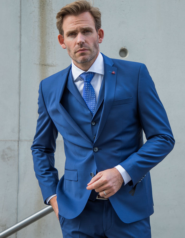 Roy Robson kostuumvest blauw