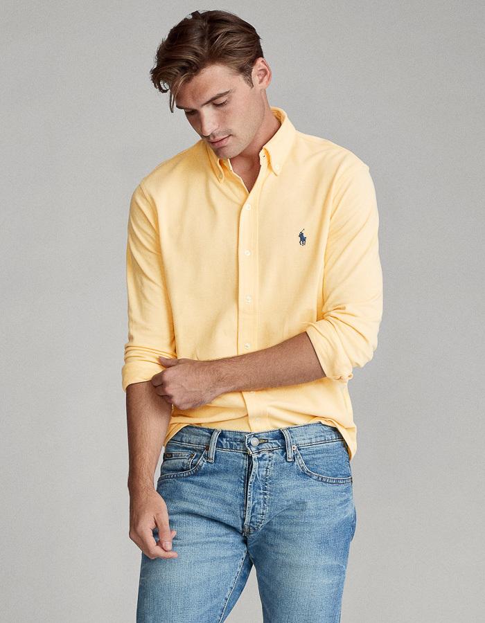 Ralph Lauren custom fit hemd geel