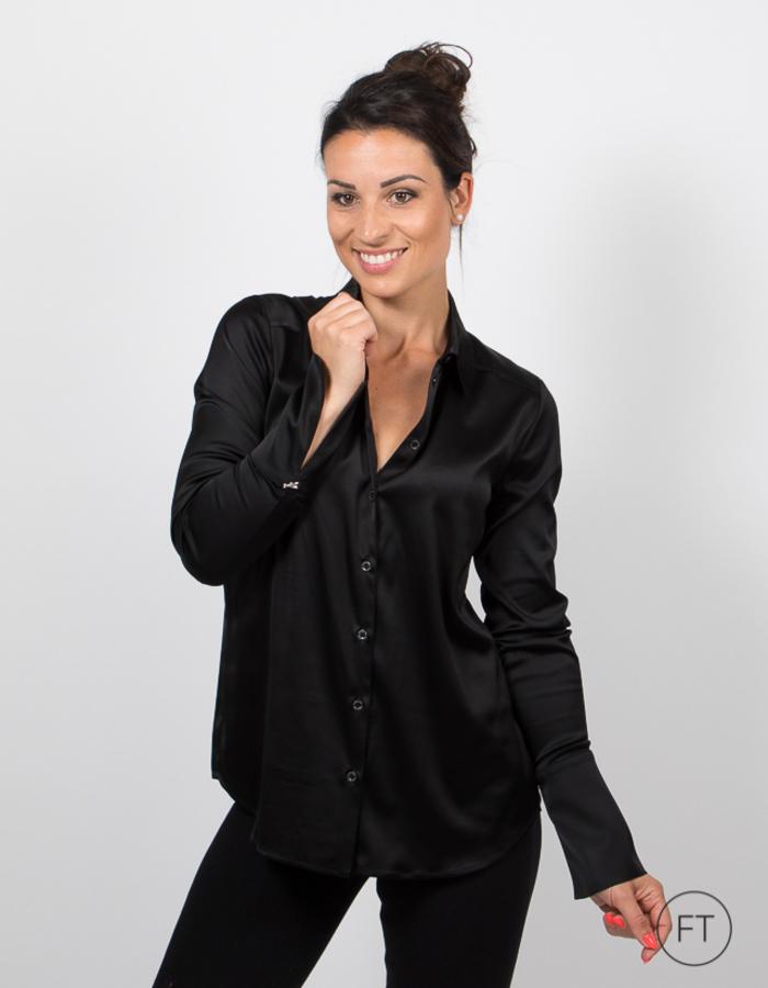 Patrizia Pepe lange mouw bloes zwart