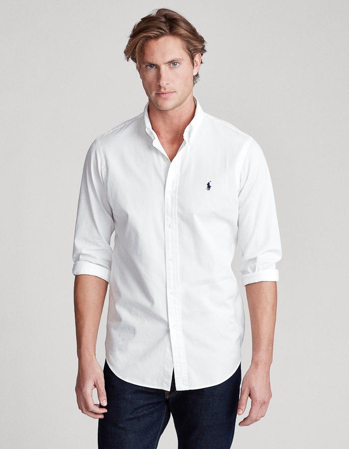 Ralph Lauren slim fit hemd wit