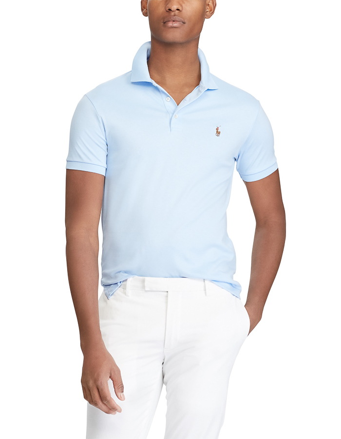 Ralph Lauren slim fit polo blauw