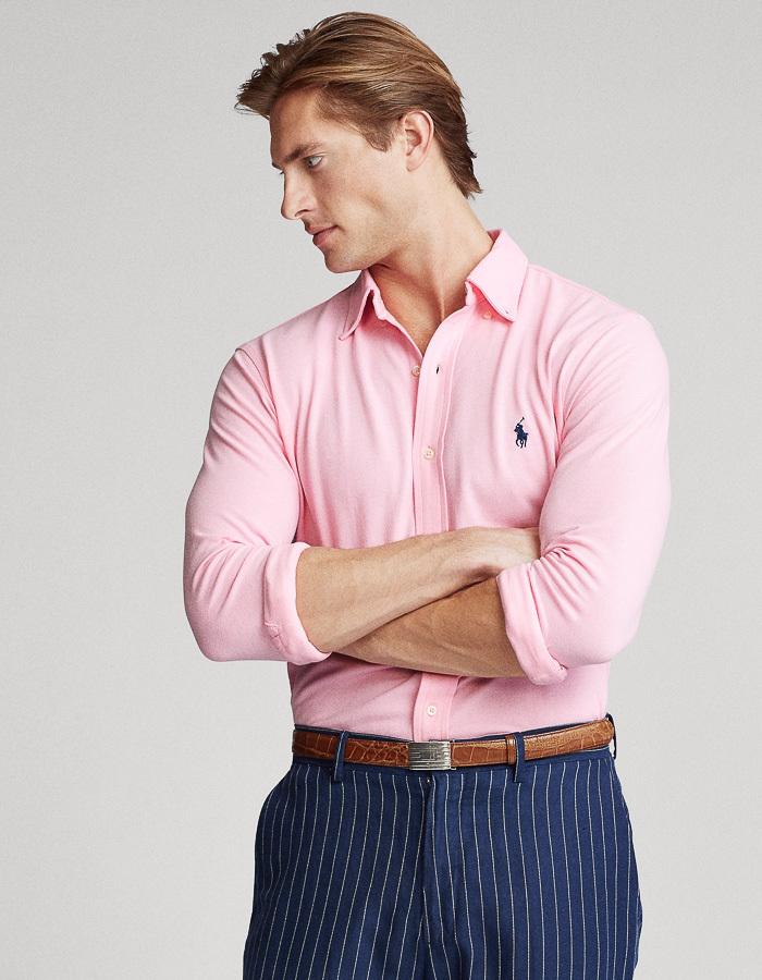 Featherweight Mesh Hemd Standard fit Roze