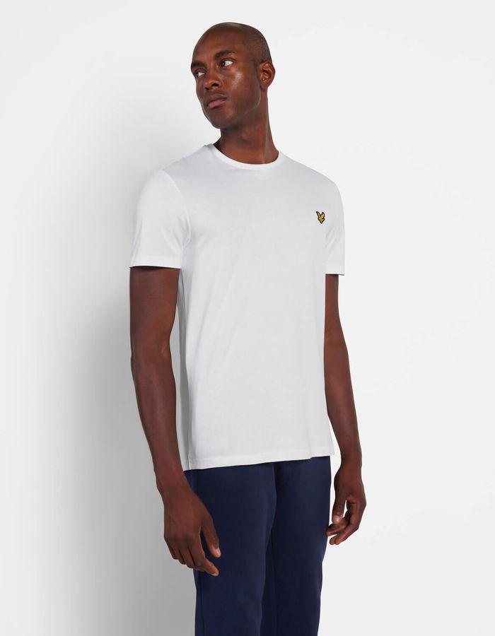 Lyle & Scott t-shirt korte mouw wit