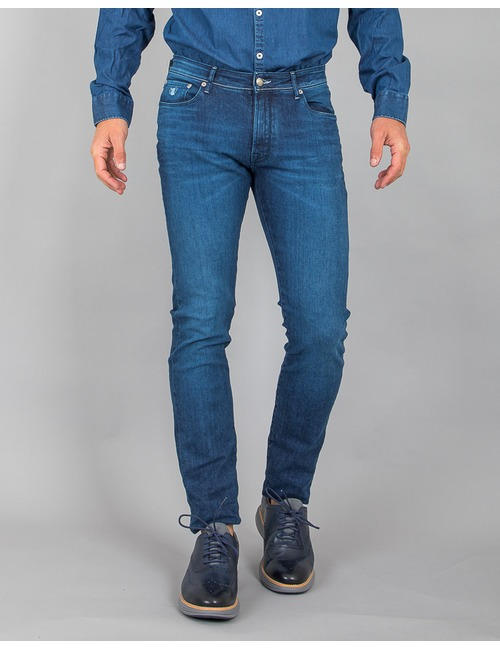 Atelier Noterman slim fit blauw