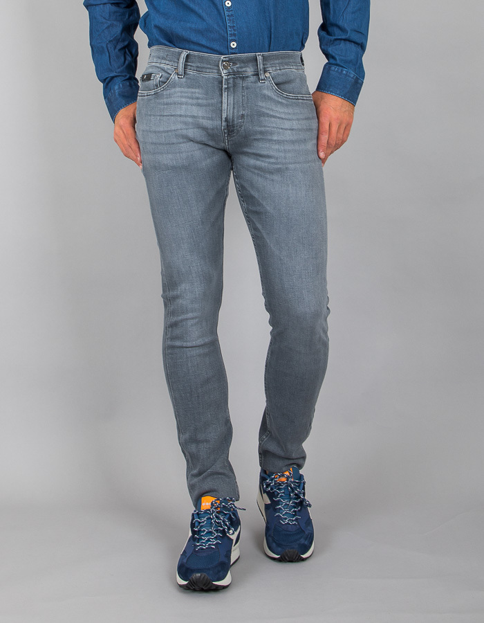 7 For All Mankind slim fit grijs
