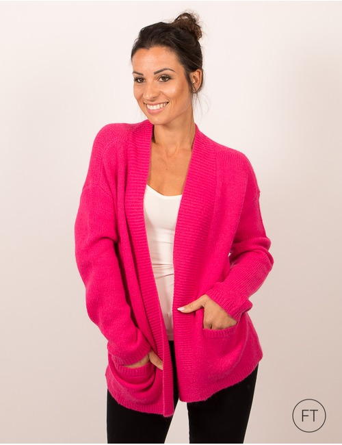 Gigue gilet rose