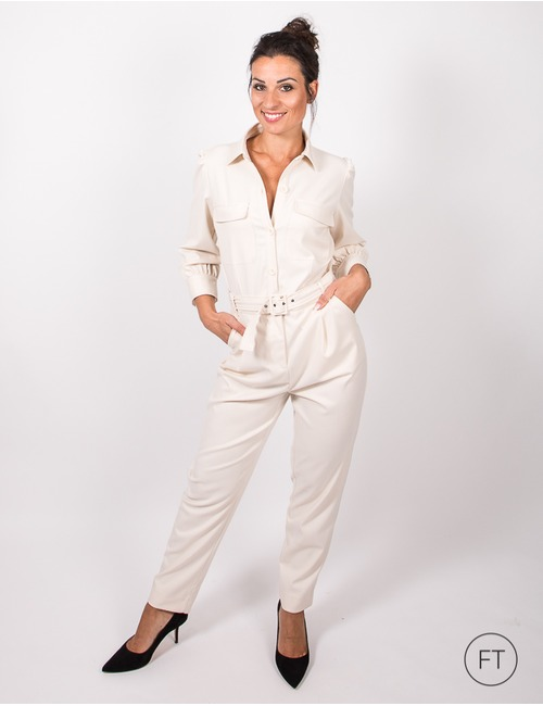 Heartmind jumpsuit ecru