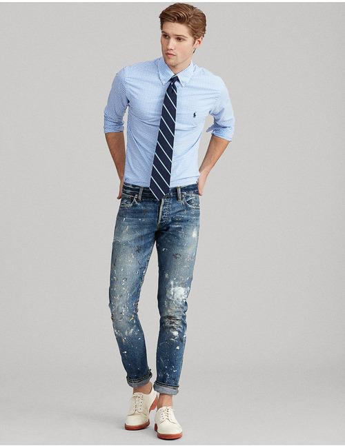 Ralph Lauren lange mouw blauw