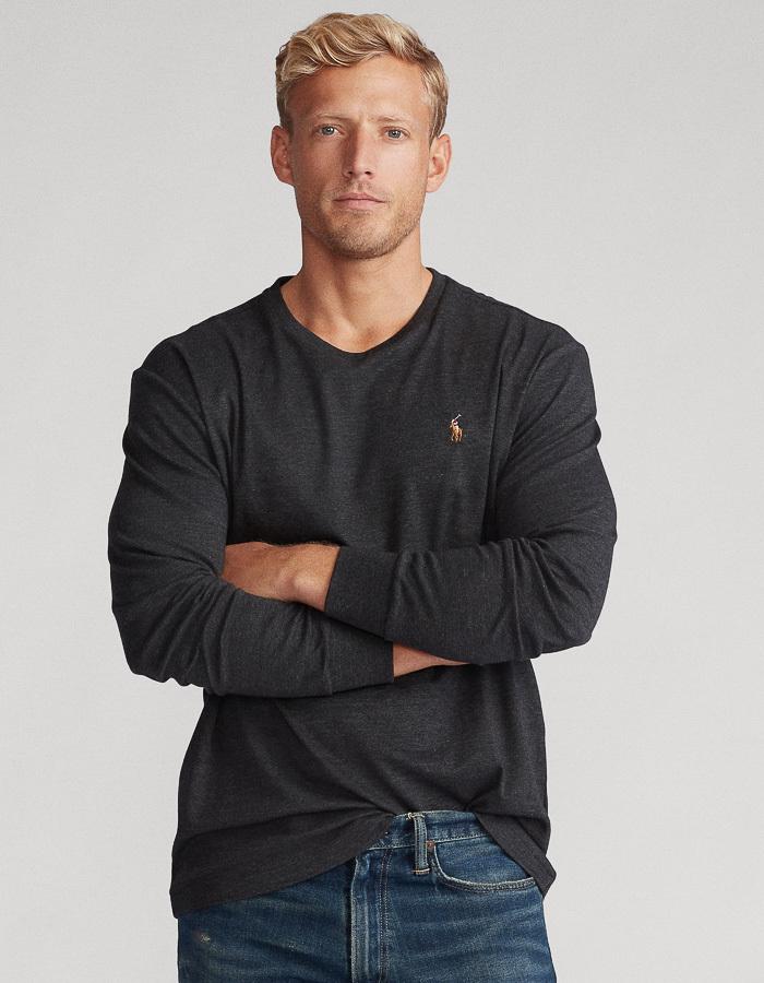 Ralph Lauren t-shirt lange mouw grijs