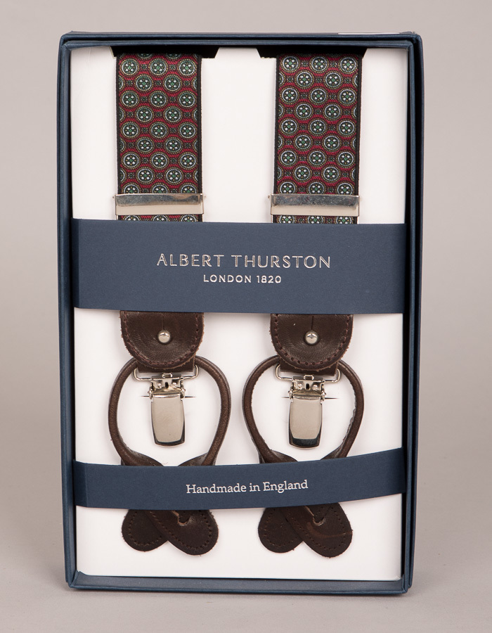 Albert Thurston bretellen bruin