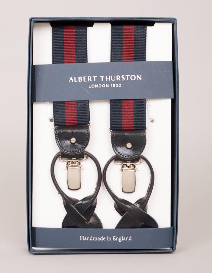 Albert Thurston bretellen blauw