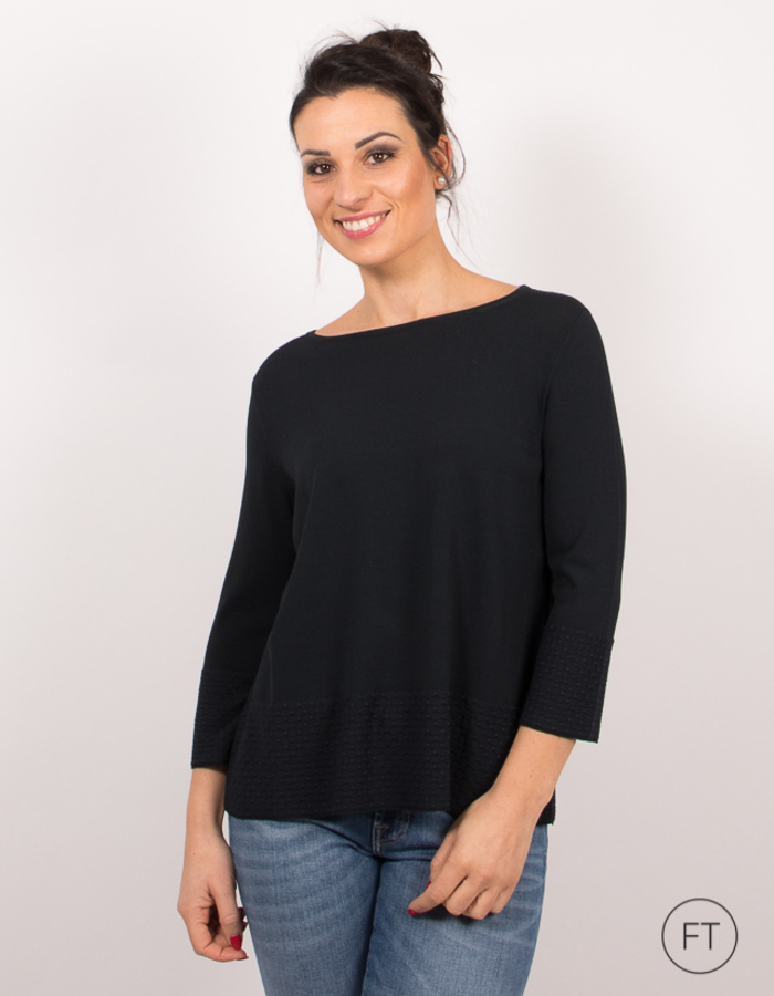 Anne Claire pull marine