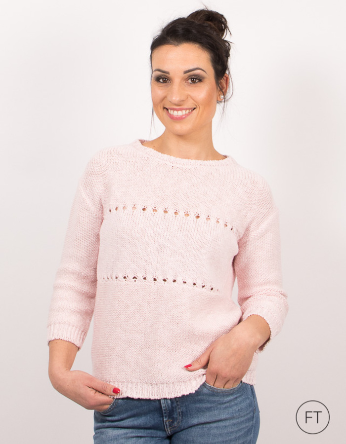 Anne Claire pull rose