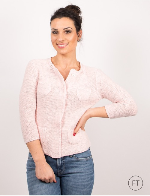 Anne Claire gilet rose