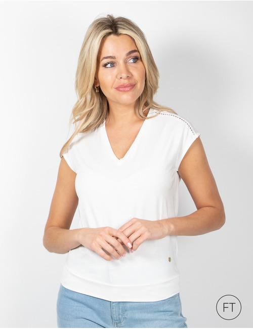 Xandres t-shirt korte mouw wit