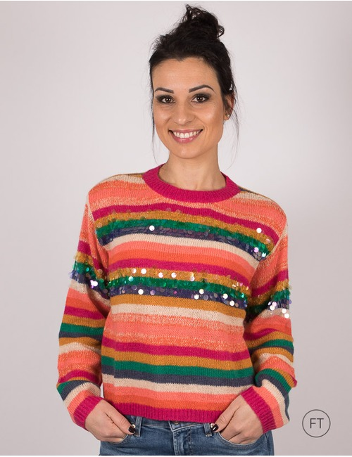 Twinset pull multicolor