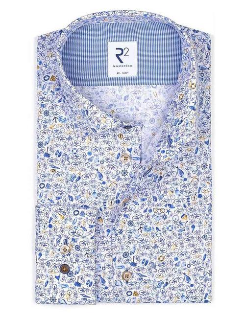 R2 modern fit hemd multicolor