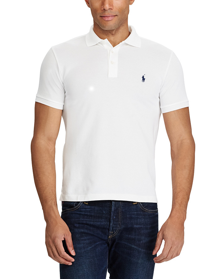 Slim Fit Polo Stretch Mesh Wit