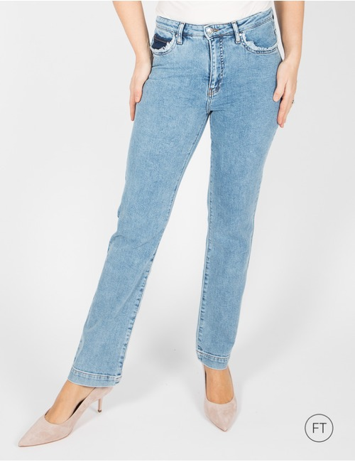 Xandres straight fit jeans blauw