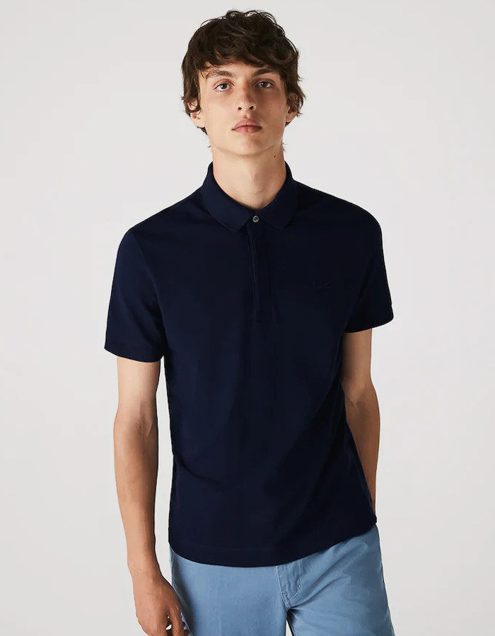Lacoste regular fit polo blauw