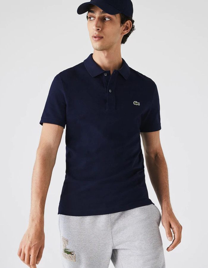 Lacoste slim fit polo blauw