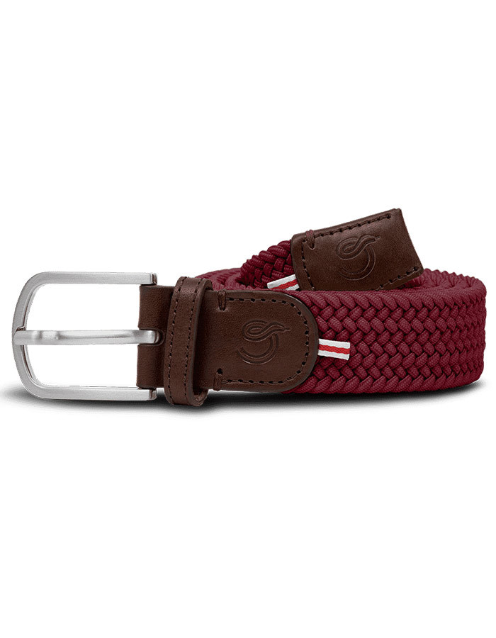 The Mono Bordeaux elastische riem
