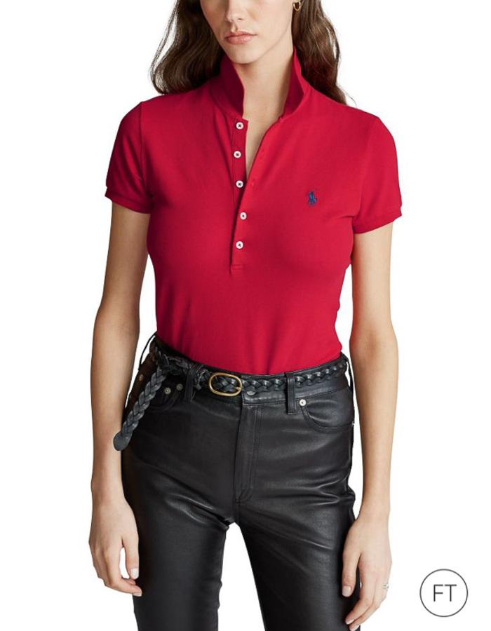 Ralph Lauren Dames korte mouw polo rood