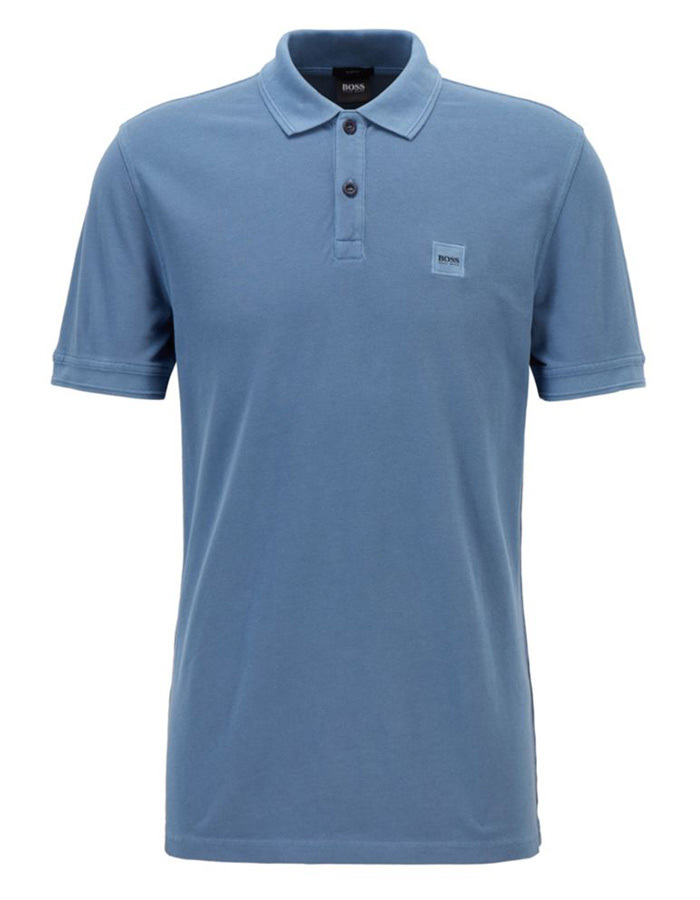 Boss Casual slim fit polo blauw
