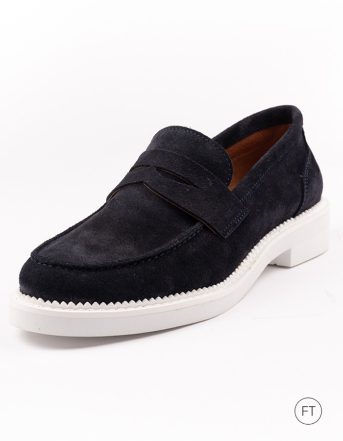 Ctwlk moccassin blauw
