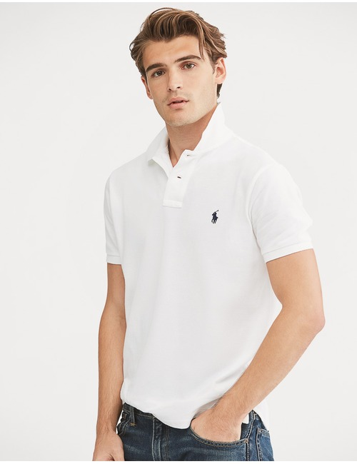 Slim Fit Mesh Polo Wit