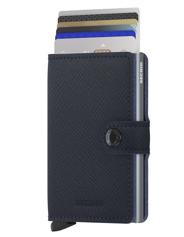 Miniwallet saffiano blauw