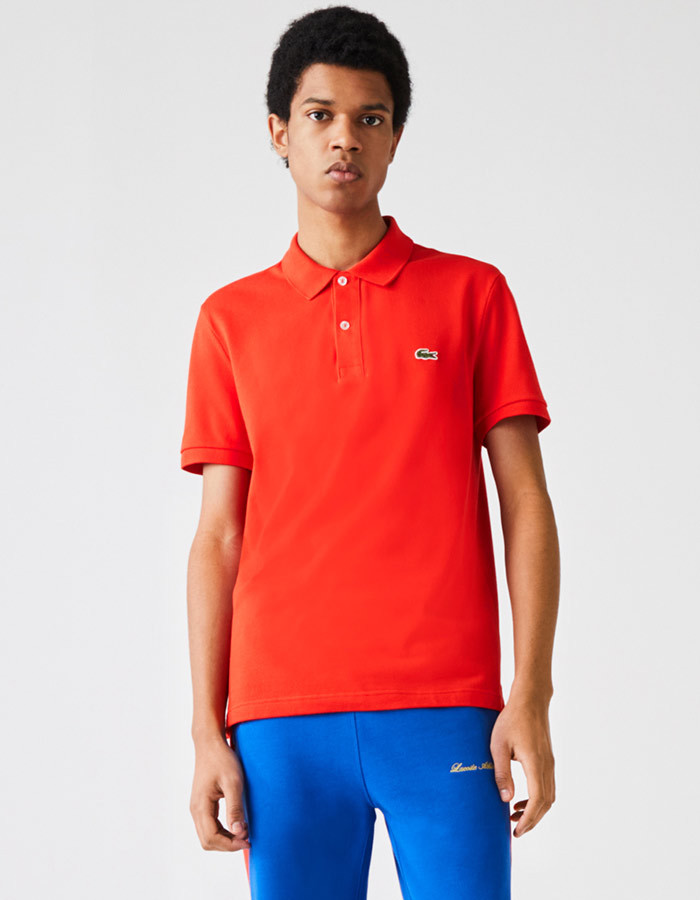Lacoste slim fit polo rood