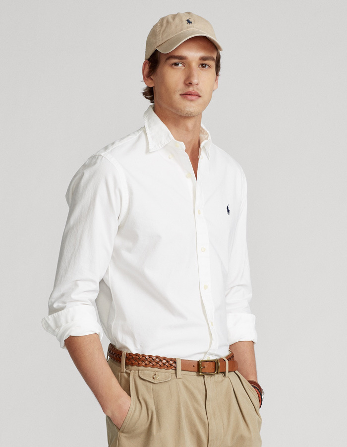 Custom Fit Oxford hemd Wit