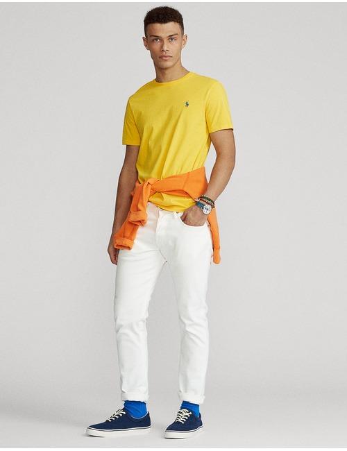 Ralph Lauren t-shirt custom slim fit geel