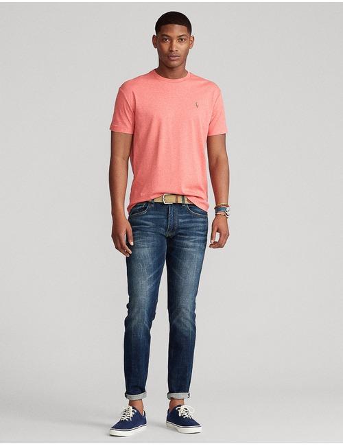 Ralph Lauren t-shirt custom slim fit rood