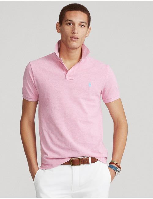 Ralph Lauren custom slim fit polo roze