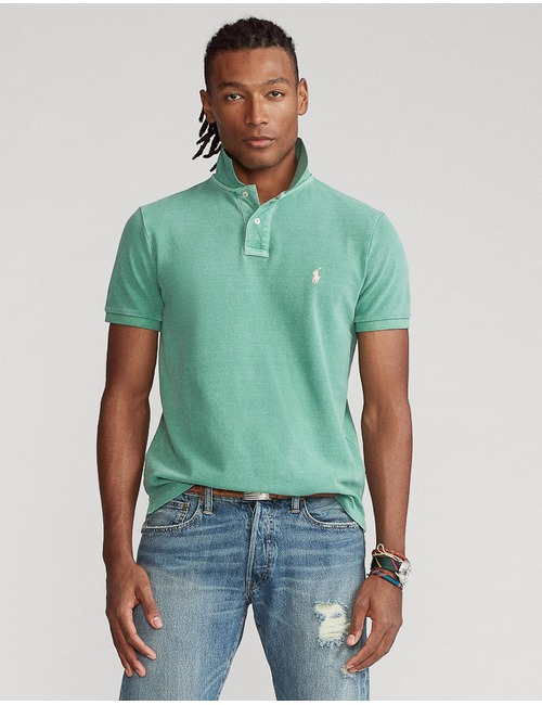 Ralph Lauren custom slim fit polo groen