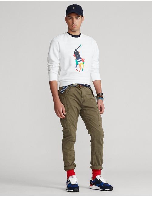 Standard fit Big pony Fleece sweater wit