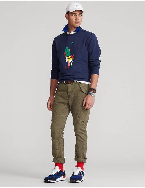 Standard fit Big pony Fleece sweater