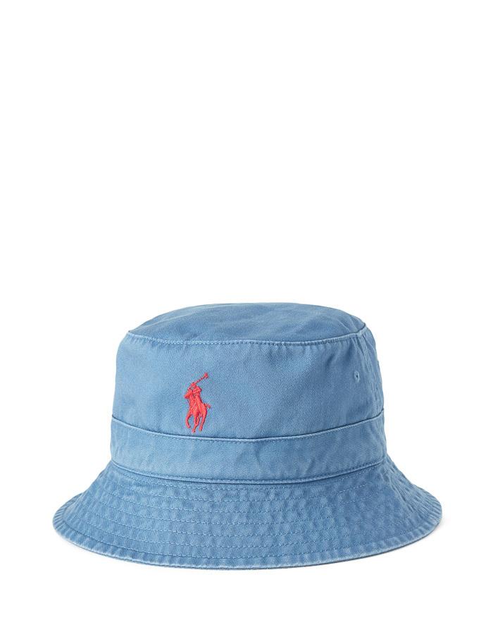Cotton Chino Bucket hat Blauw