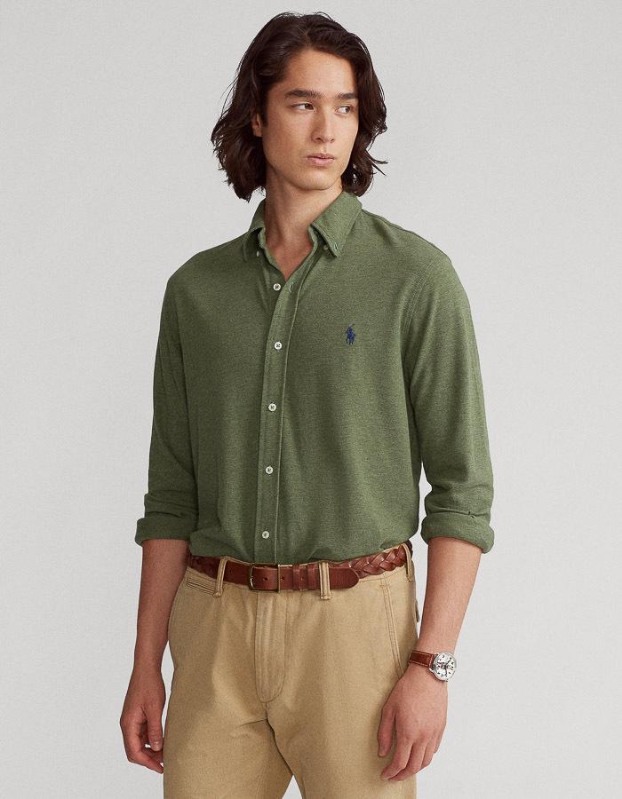 Featherweight mesh hemd standard fit kaki