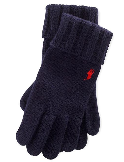 Wollen handschoenen donkerblauw