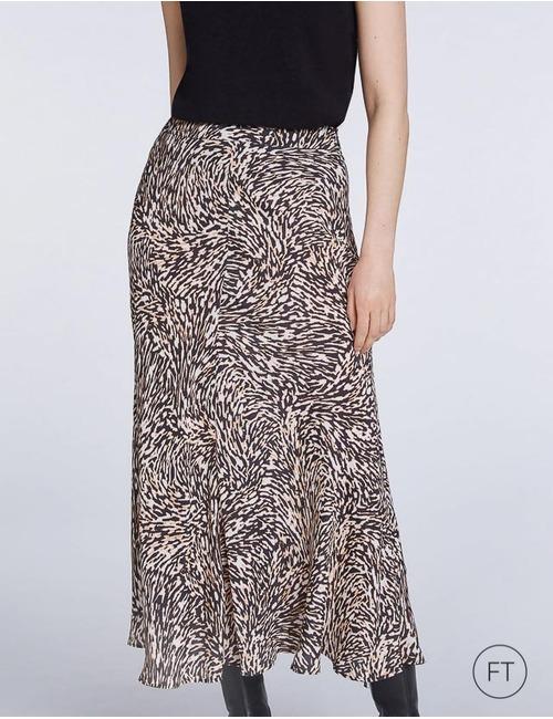 Set lange rok bruin