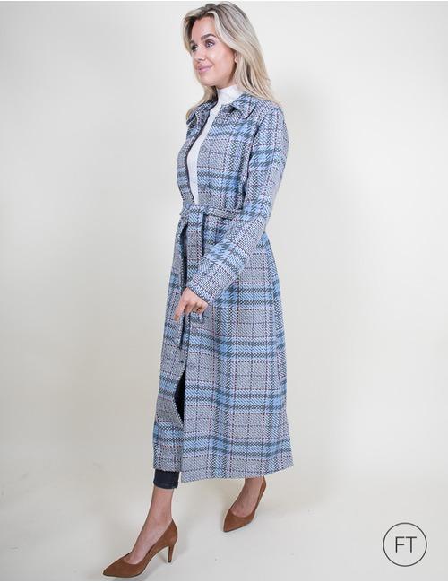 La Camicia lange mantel grijs