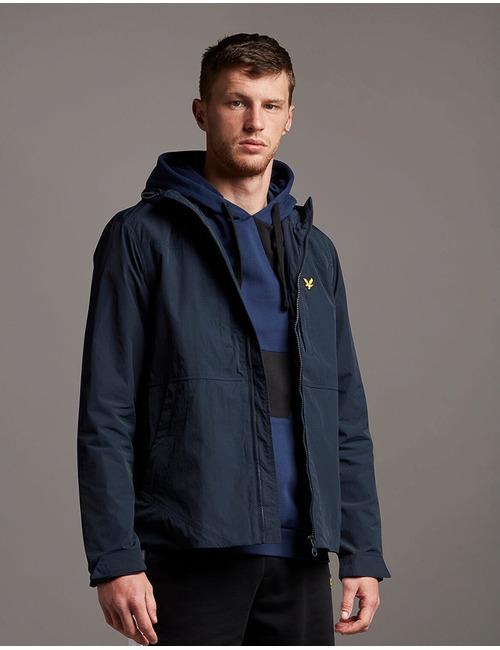 Sportieve jas met kap donkerblauw