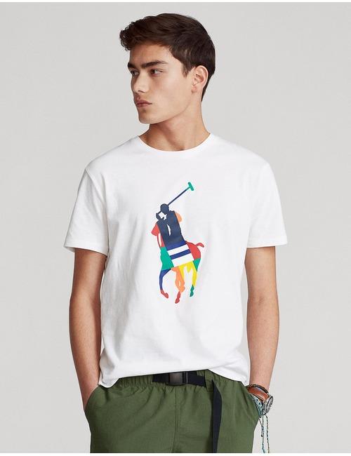 Ralph Lauren t-shirt custom slim fit wit