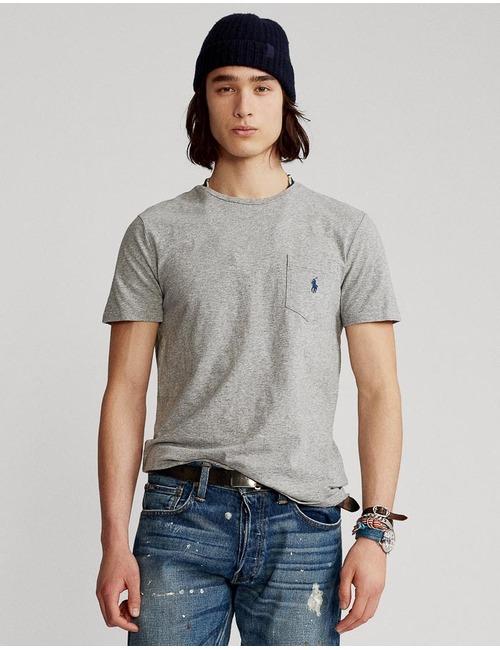 Ralph Lauren t-shirt custom slim fit grijs